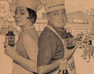 MUMBO BAR-B-Q SAUCE - historic ad - MUMBO TURNS ON THE FLAVOR!
