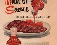 MUMBO BAR-B-Q SAUCE - Historic Herald American Advertisement