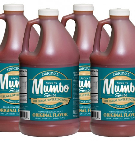 Mumbo Sauce comes in 1-gallon jugs for use in the food industry.
