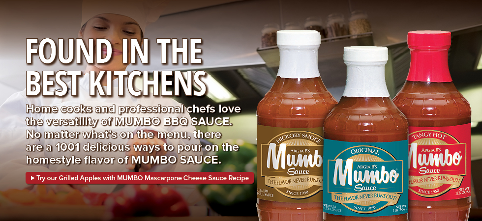 MUMBO Sauce is found in the best kitchens