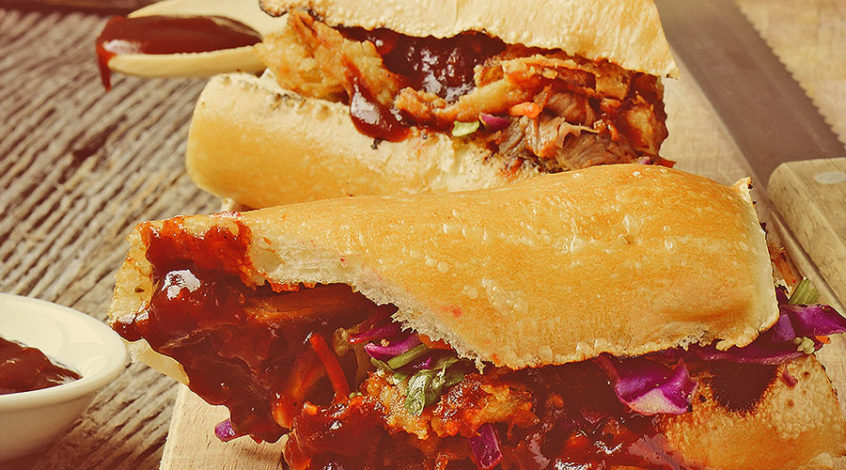 MUMBO pulled bbq chicken sandwich